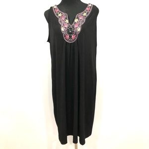 Voir Voir black embroidered dress